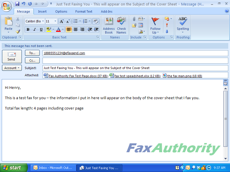 eFax - How to Send a Fax with Email - Adding Attachments