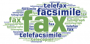 Different terms for fax or an invention that transmits an electronic image
