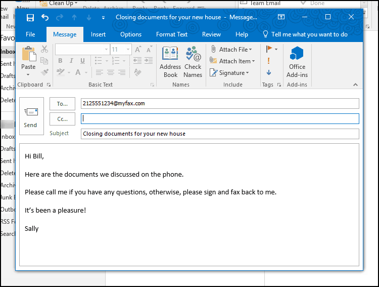 MyFax email to fax